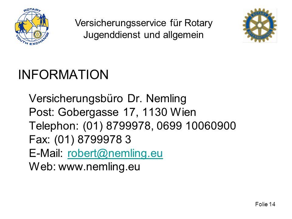 INFORMATION Versicherungsbüro Dr. Nemling