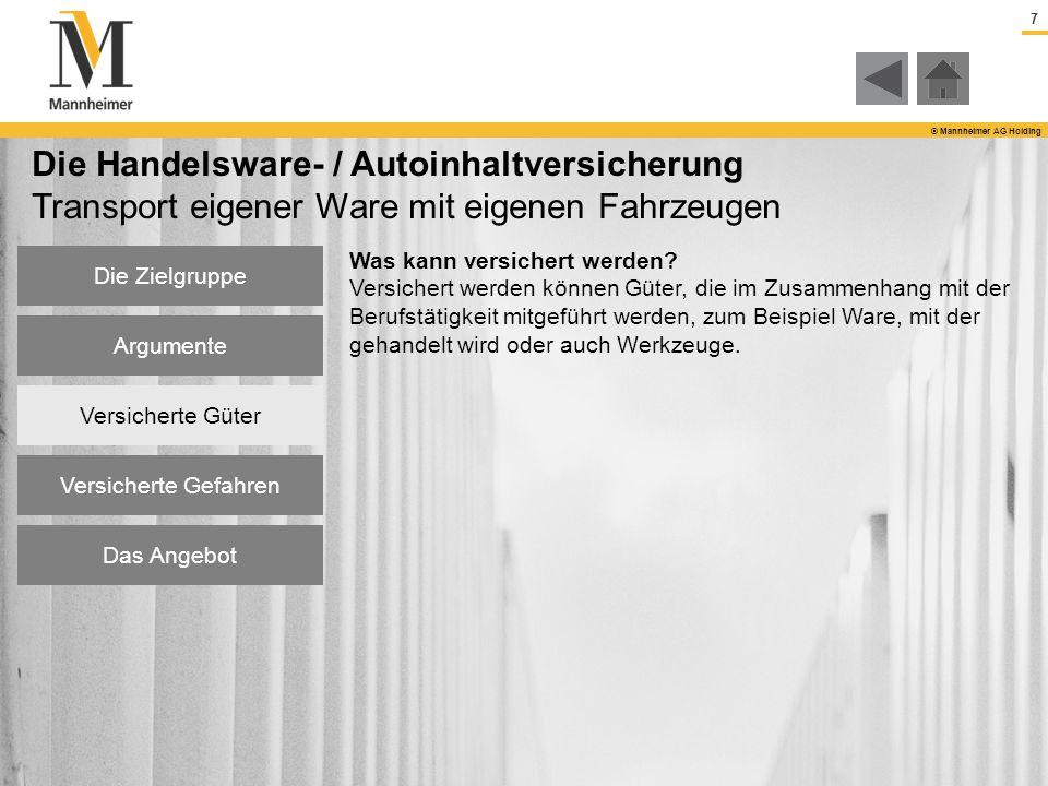Die Handelsware- / Autoinhaltversicherung