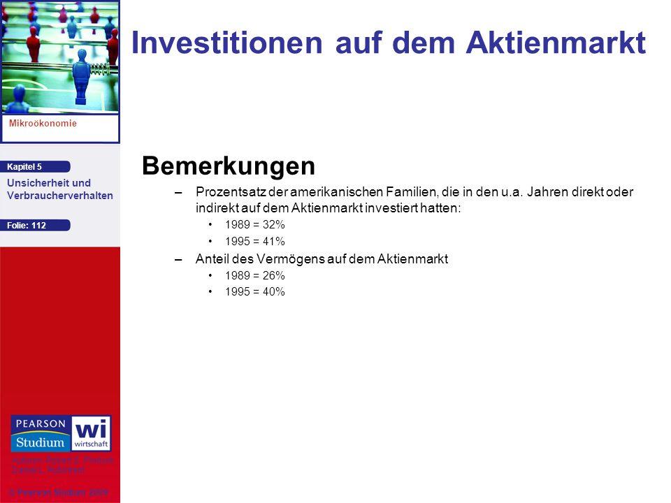 Investitionen auf dem Aktienmarkt