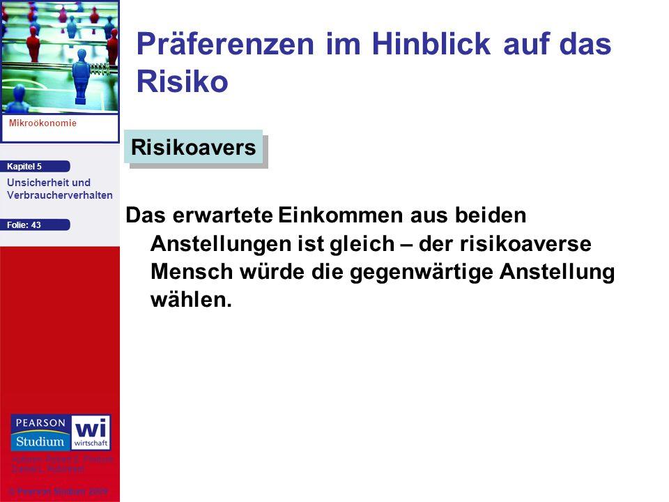 Präferenzen im Hinblick auf das Risiko