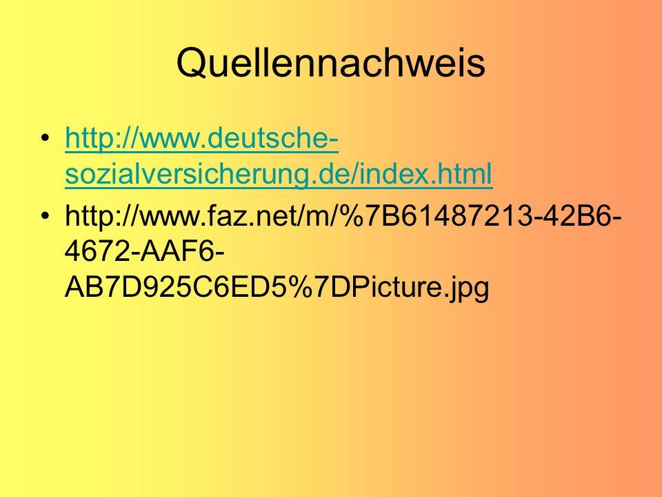 Quellennachweis http://www.deutsche-sozialversicherung.de/index.html