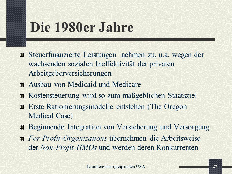 Krankenversorgung in den USA