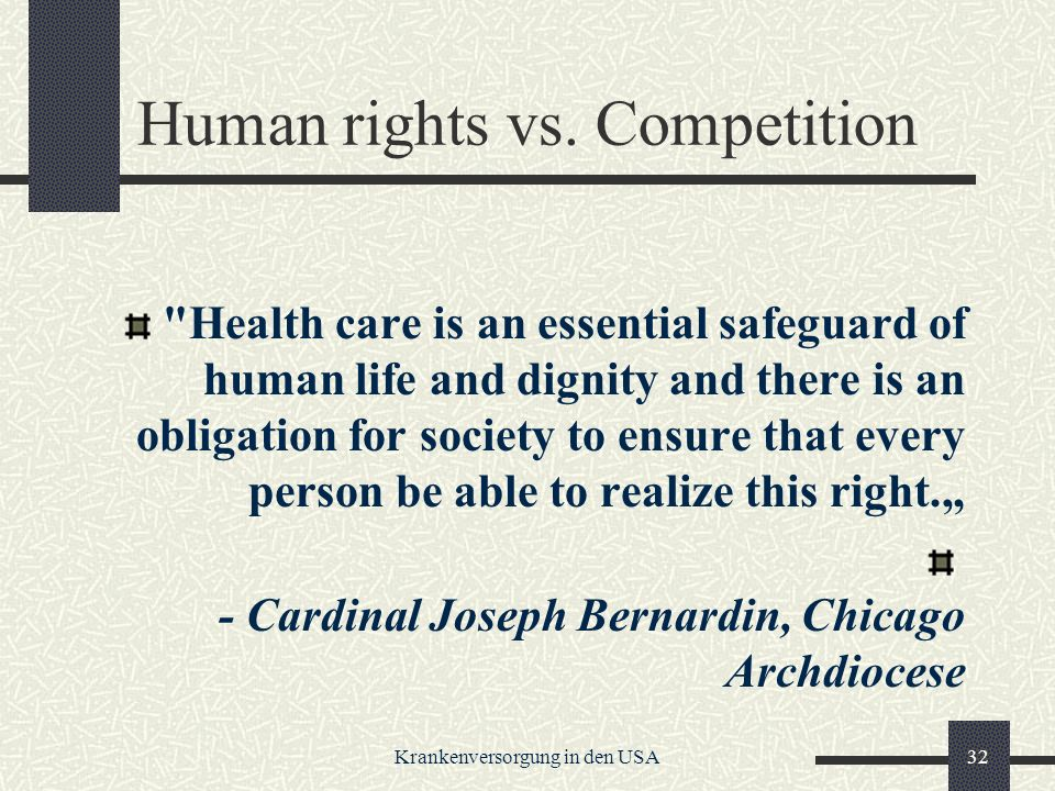 Human rights vs. Competition