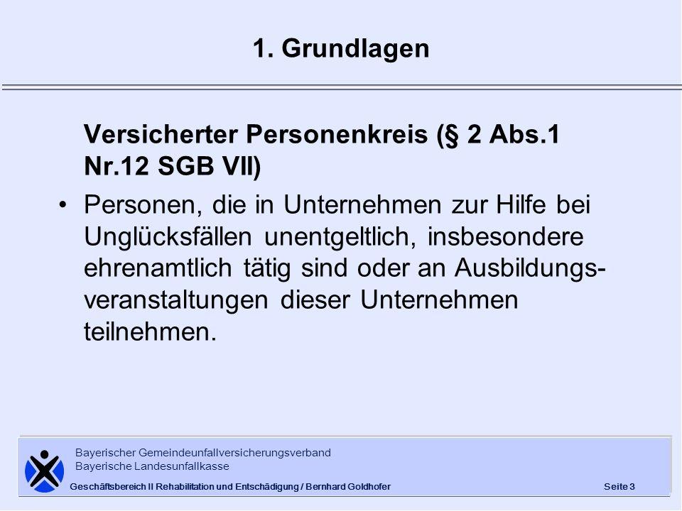 Versicherter Personenkreis (§ 2 Abs.1 Nr.12 SGB VII)