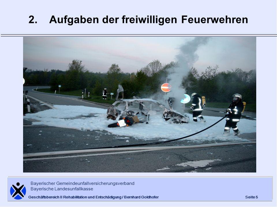 2. Aufgaben der freiwilligen Feuerwehren