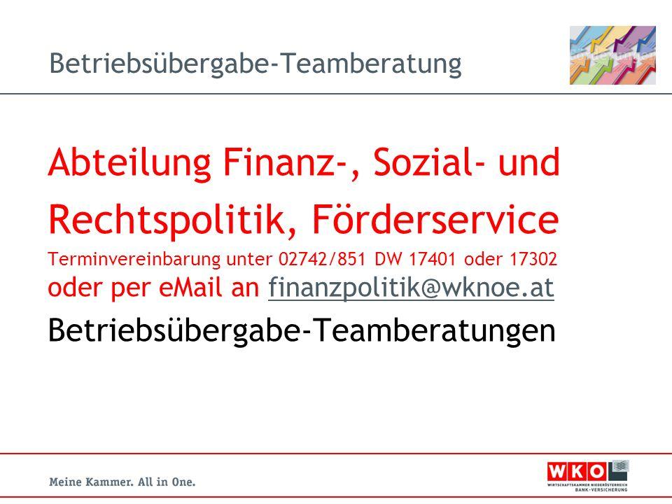 Betriebsübergabe-Teamberatung