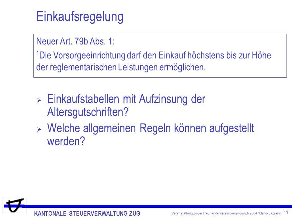Einkaufsregelung Neuer Art. 79b Abs. 1: