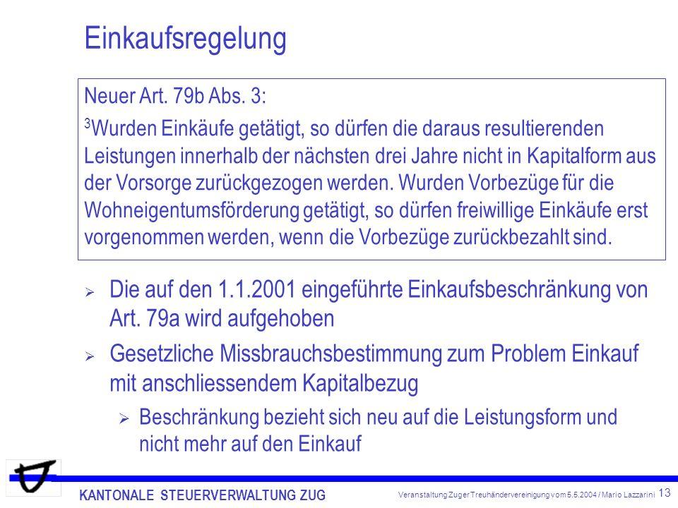Einkaufsregelung Neuer Art. 79b Abs. 3:
