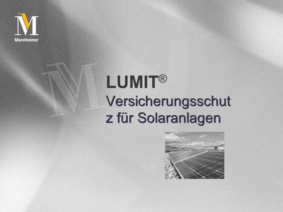 Versicherungsschutz für Solaranlagen
