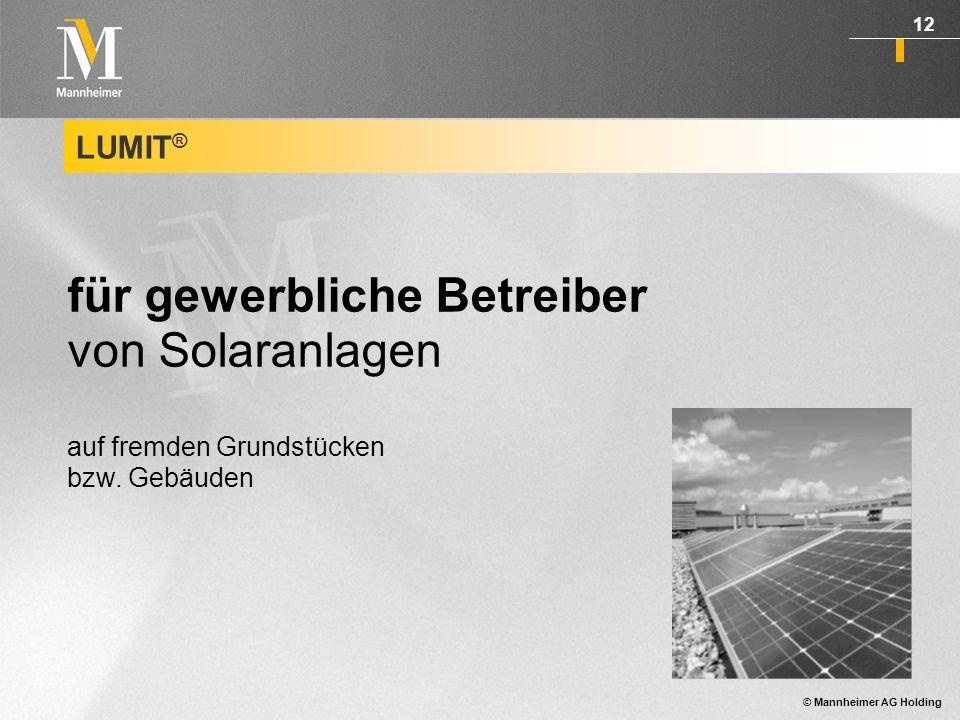 für gewerbliche Betreiber von Solaranlagen