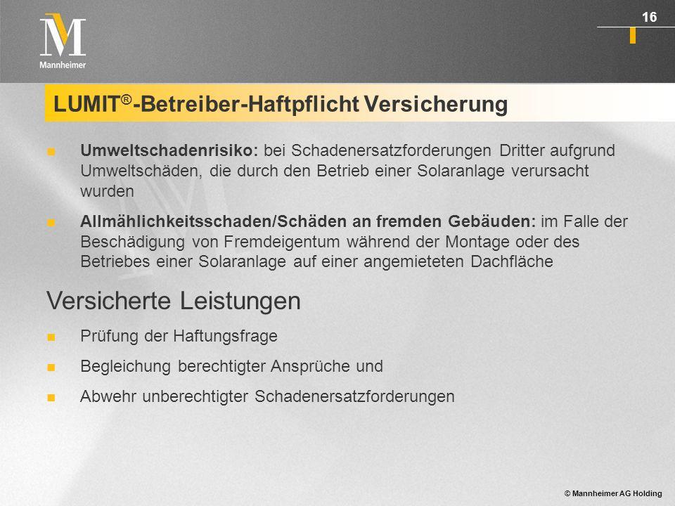 LUMIT®-Betreiber-Haftpflicht Versicherung