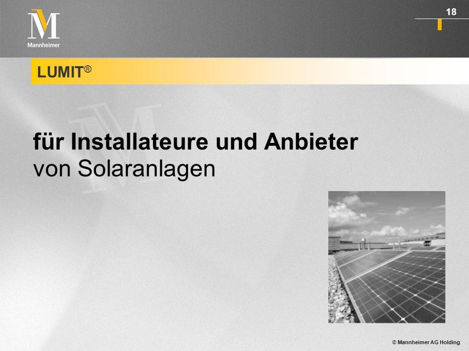 für Installateure und Anbieter von Solaranlagen
