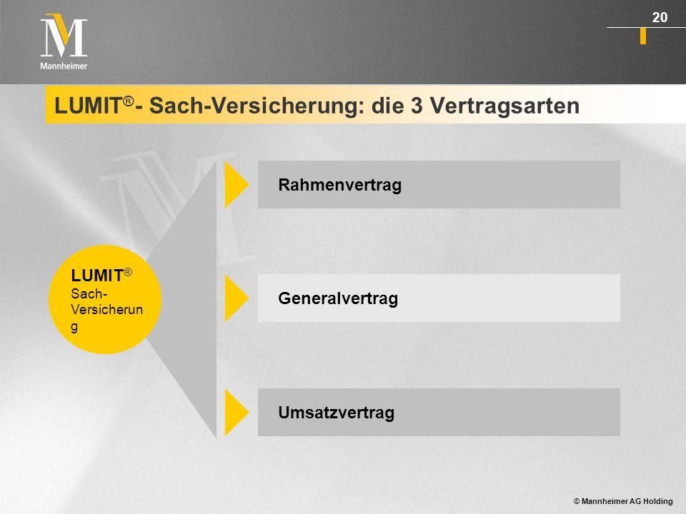 LUMIT®- Sach-Versicherung: die 3 Vertragsarten