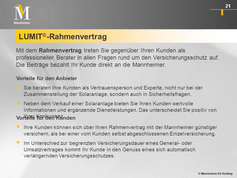 LUMIT®-Rahmenvertrag