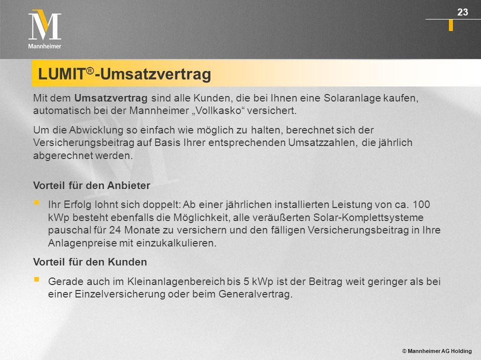 LUMIT®-Umsatzvertrag
