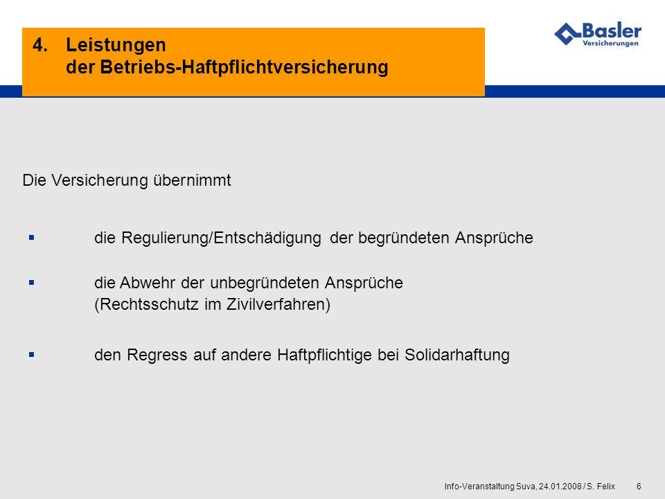 4. Leistungen der Betriebs-Haftpflichtversicherung