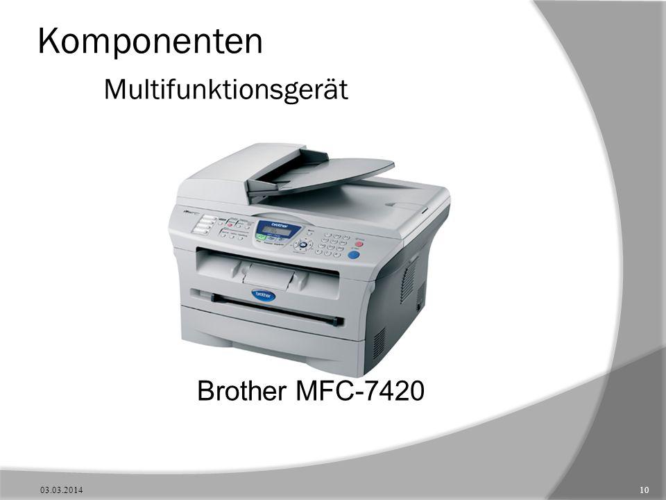 Komponenten Multifunktionsgerät