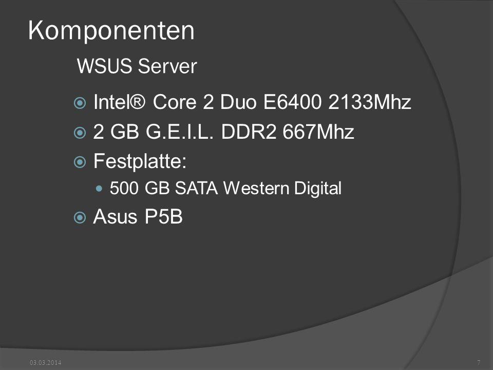 Komponenten WSUS Server