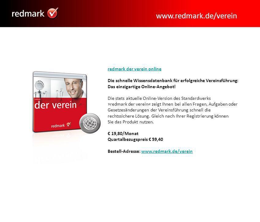 www.redmark.de/verein redmark der verein online