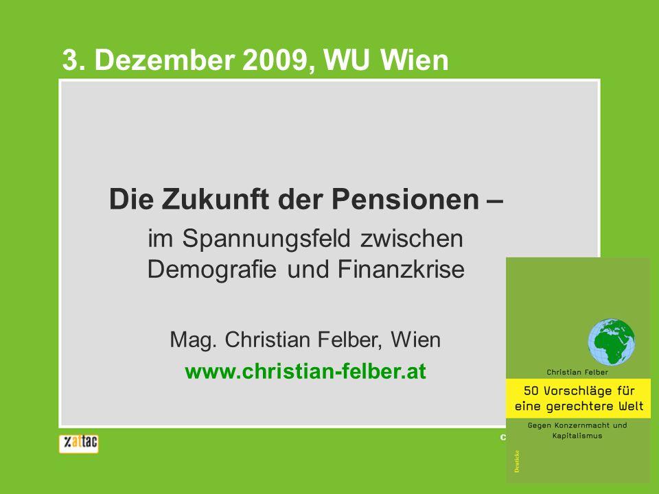 Die Zukunft der Pensionen –