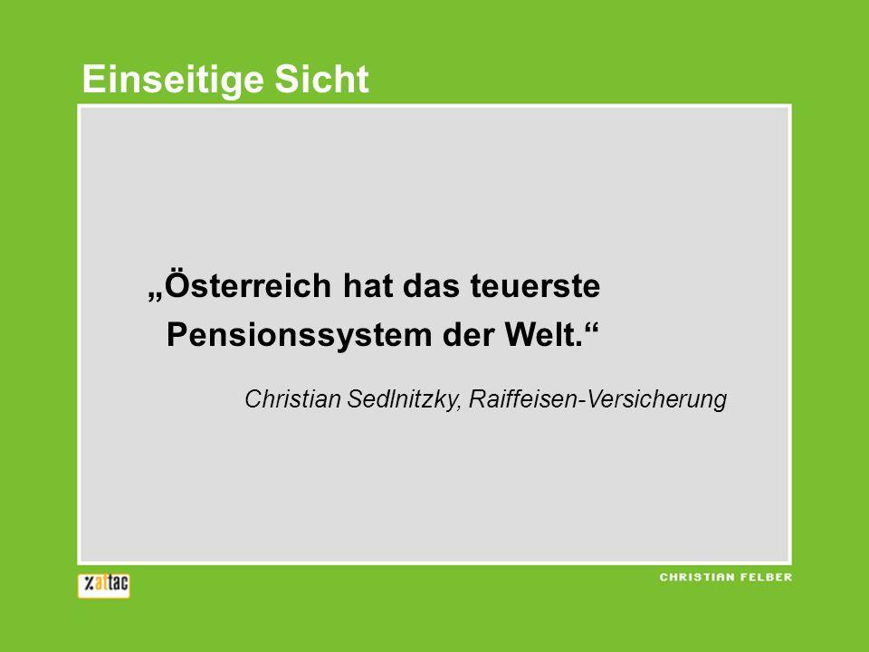 """Einseitige Sicht """"Österreich hat das teuerste"""