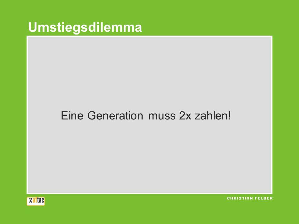 Umstiegsdilemma Eine Generation muss 2x zahlen!