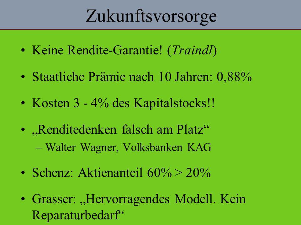 Zukunftsvorsorge Keine Rendite-Garantie! (Traindl)