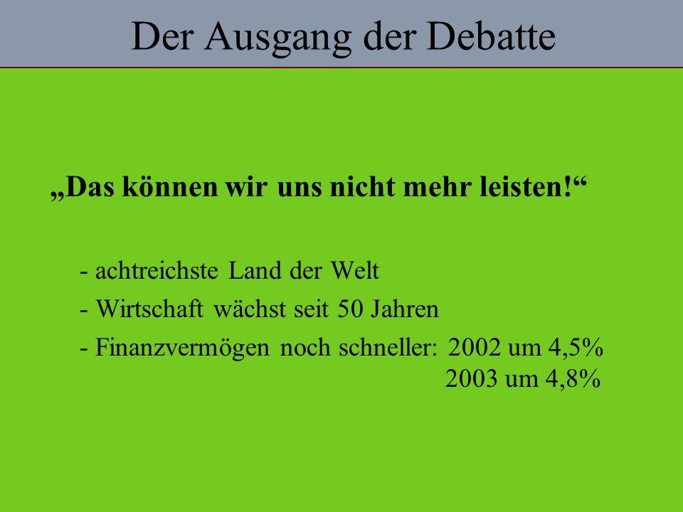 Der Ausgang der Debatte