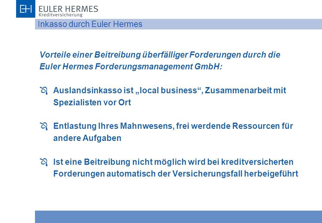 Inkasso durch Euler Hermes
