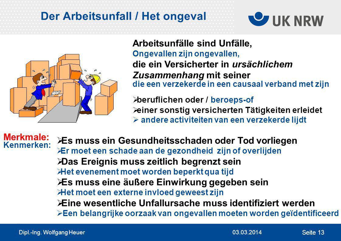 Der Arbeitsunfall / Het ongeval
