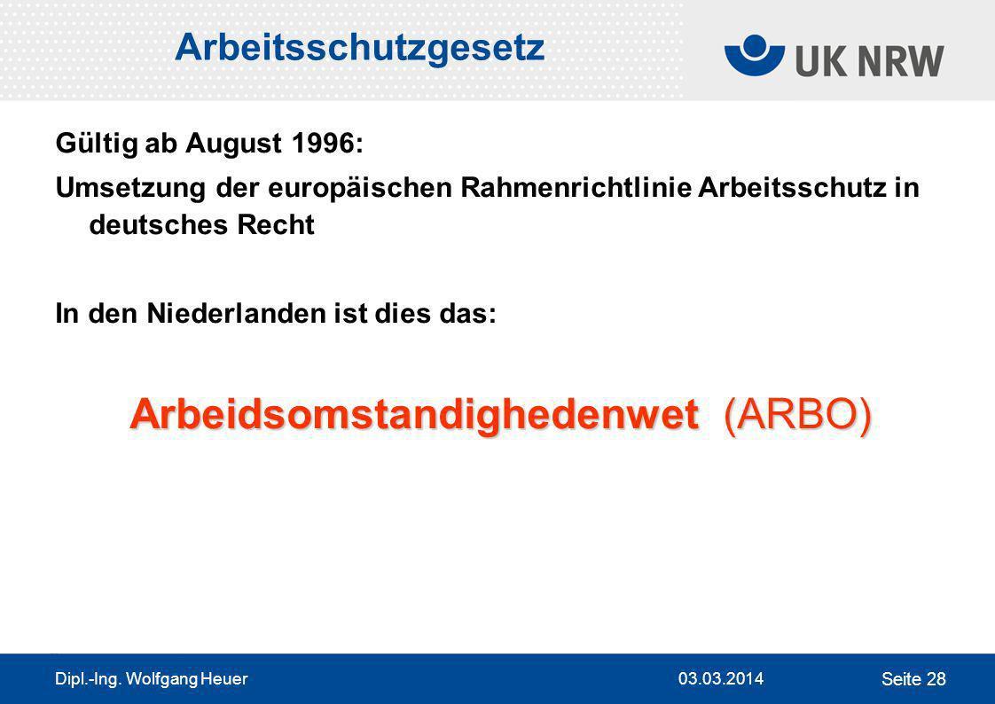 Arbeidsomstandighedenwet (ARBO)