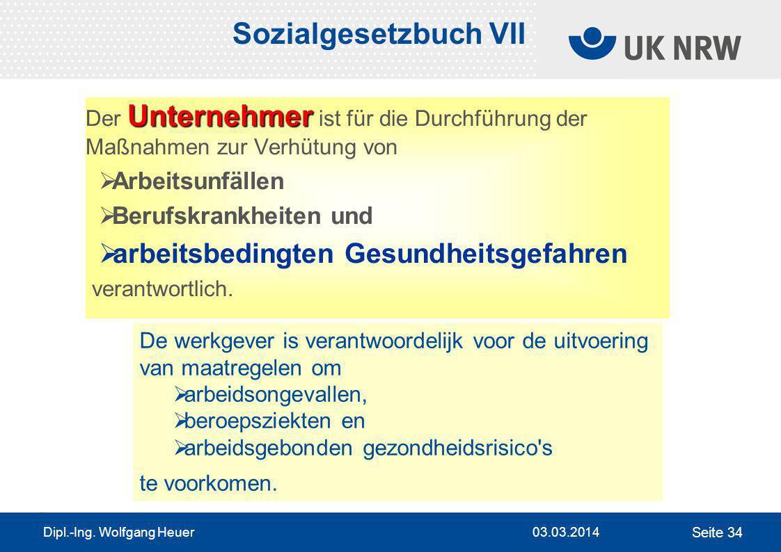 Sozialgesetzbuch VII arbeitsbedingten Gesundheitsgefahren