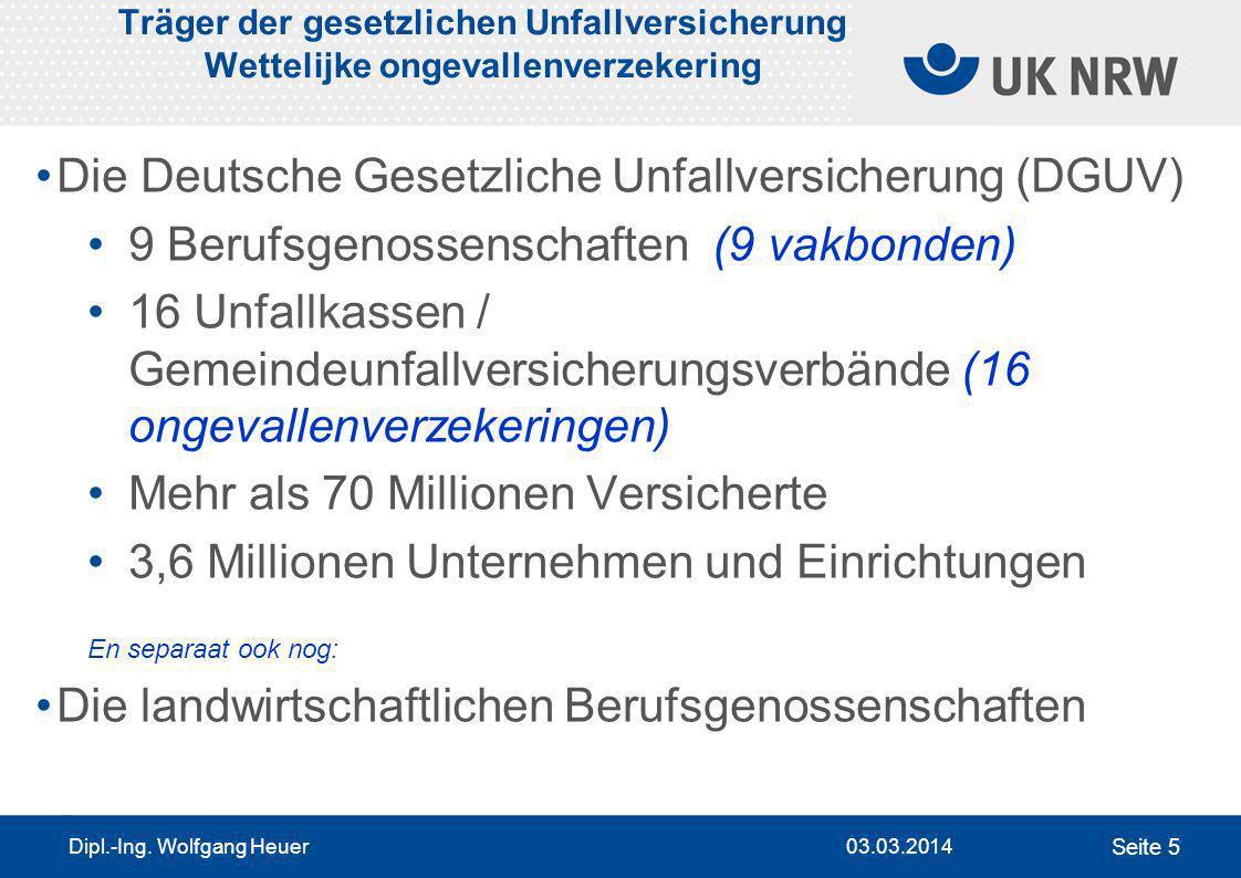 Die Deutsche Gesetzliche Unfallversicherung (DGUV)