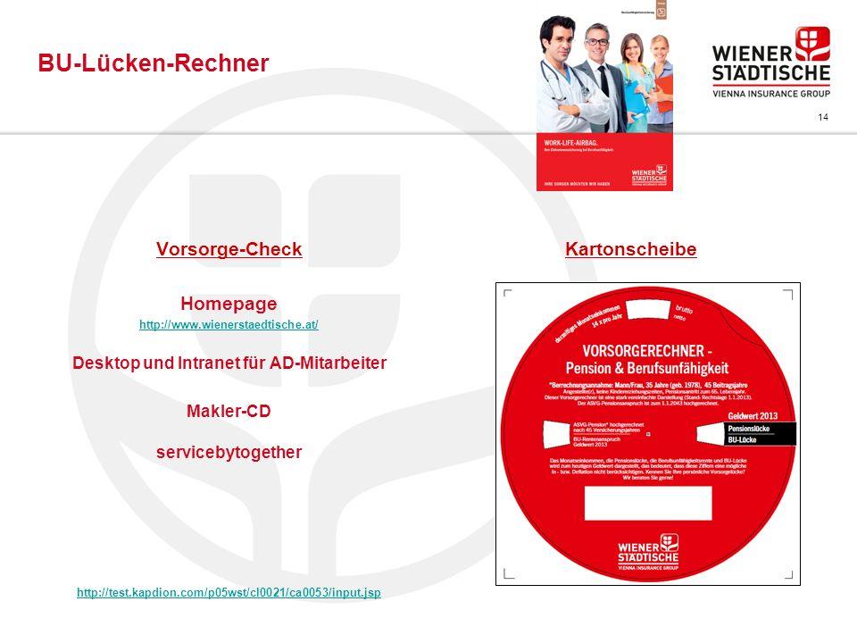 Desktop und Intranet für AD-Mitarbeiter