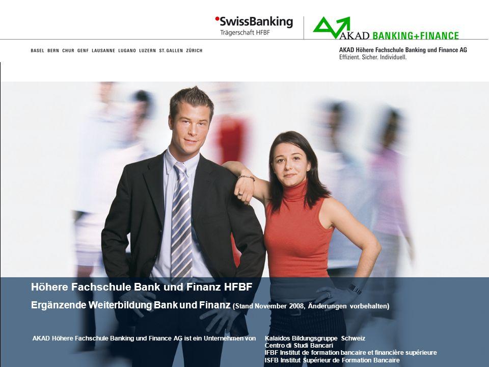Höhere Fachschule Bank und Finanz HFBF