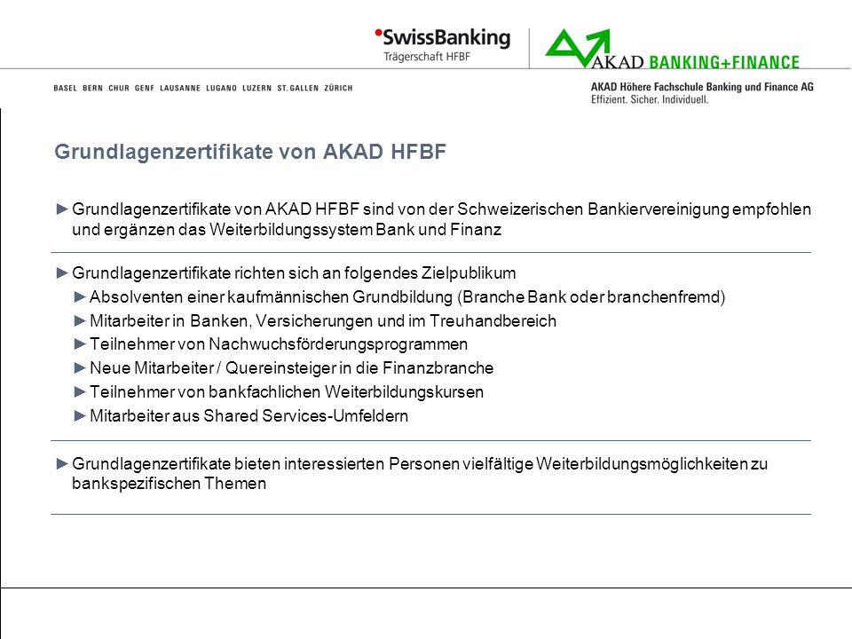 Grundlagenzertifikate von AKAD HFBF