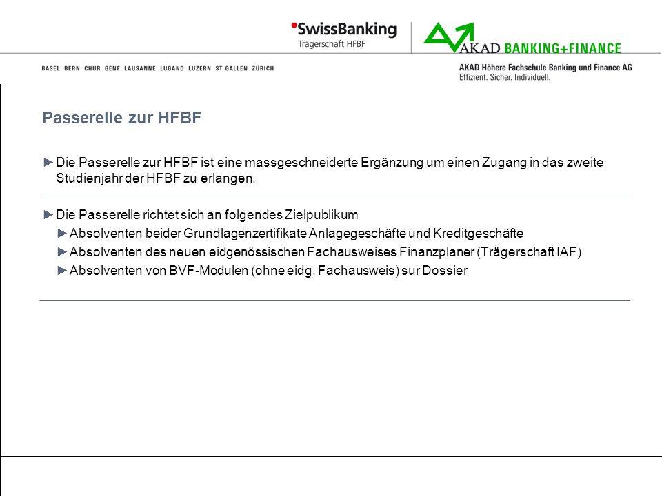 Passerelle zur HFBF Die Passerelle zur HFBF ist eine massgeschneiderte Ergänzung um einen Zugang in das zweite Studienjahr der HFBF zu erlangen.