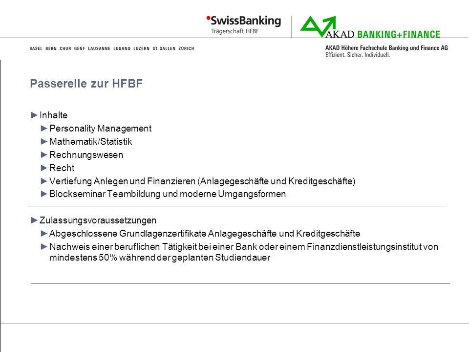 Passerelle zur HFBF Inhalte Personality Management