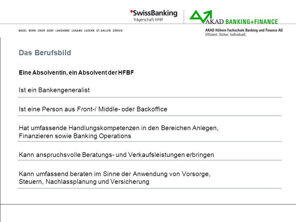 Das Berufsbild Ist ein Bankengeneralist
