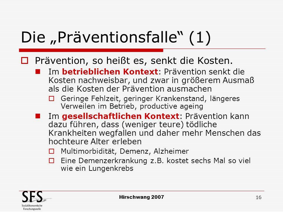 "Die ""Präventionsfalle (1)"