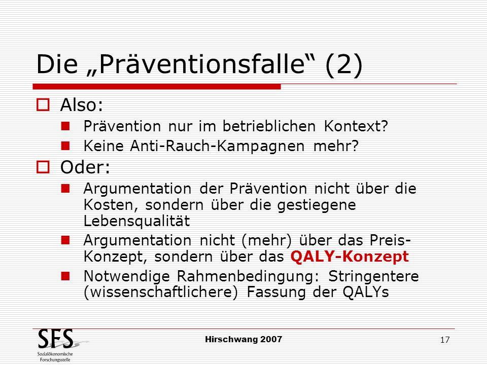 "Die ""Präventionsfalle (2)"