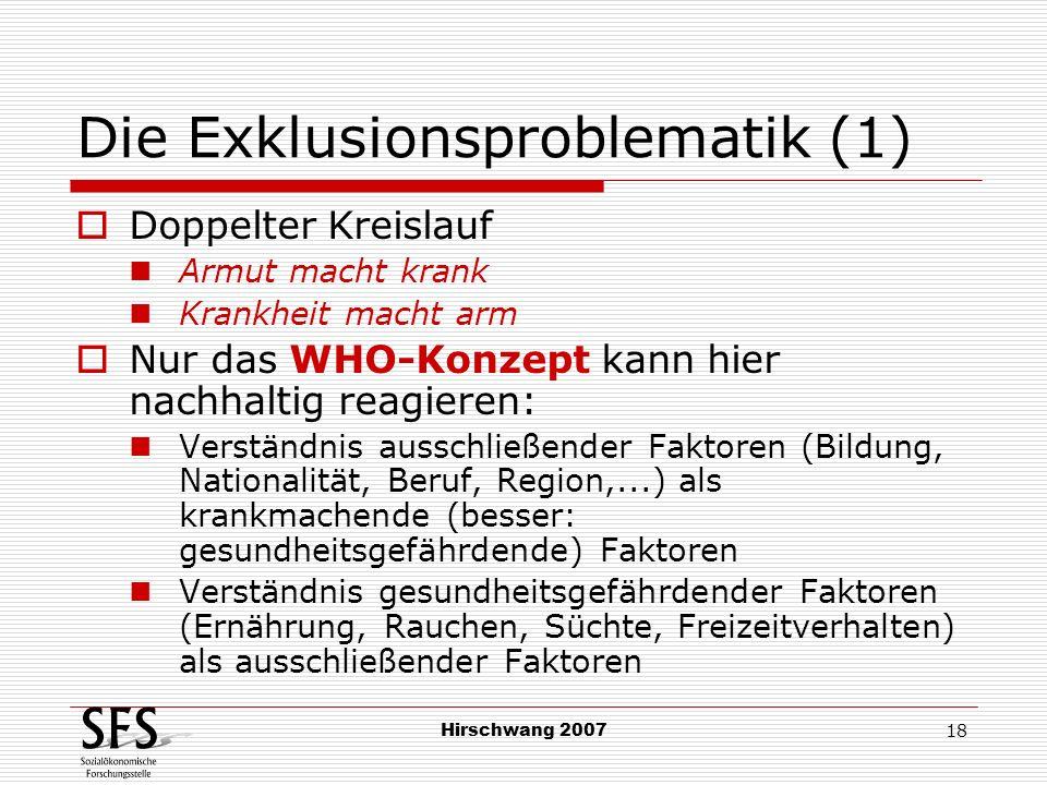 Die Exklusionsproblematik (1)