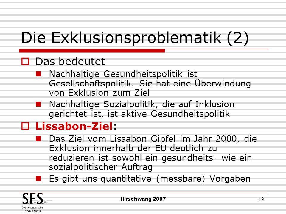 Die Exklusionsproblematik (2)