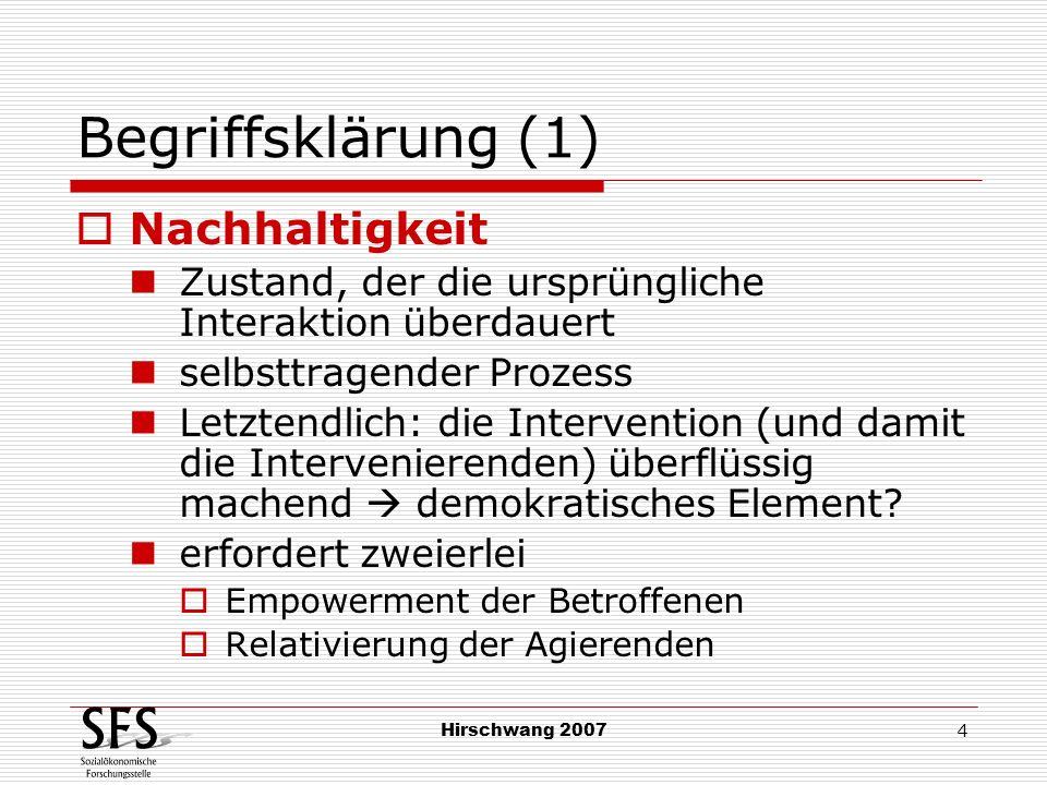 Begriffsklärung (1) Nachhaltigkeit