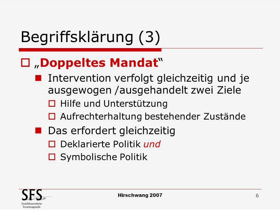 """Begriffsklärung (3) """"Doppeltes Mandat"""