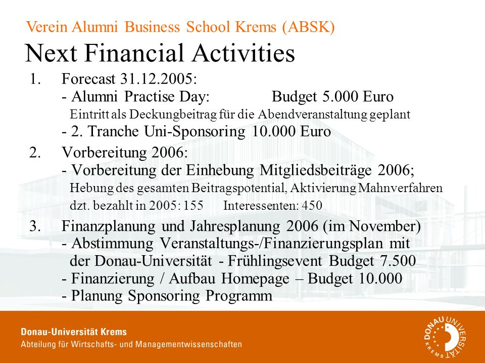 Next Financial Activities
