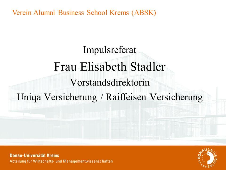 Frau Elisabeth Stadler