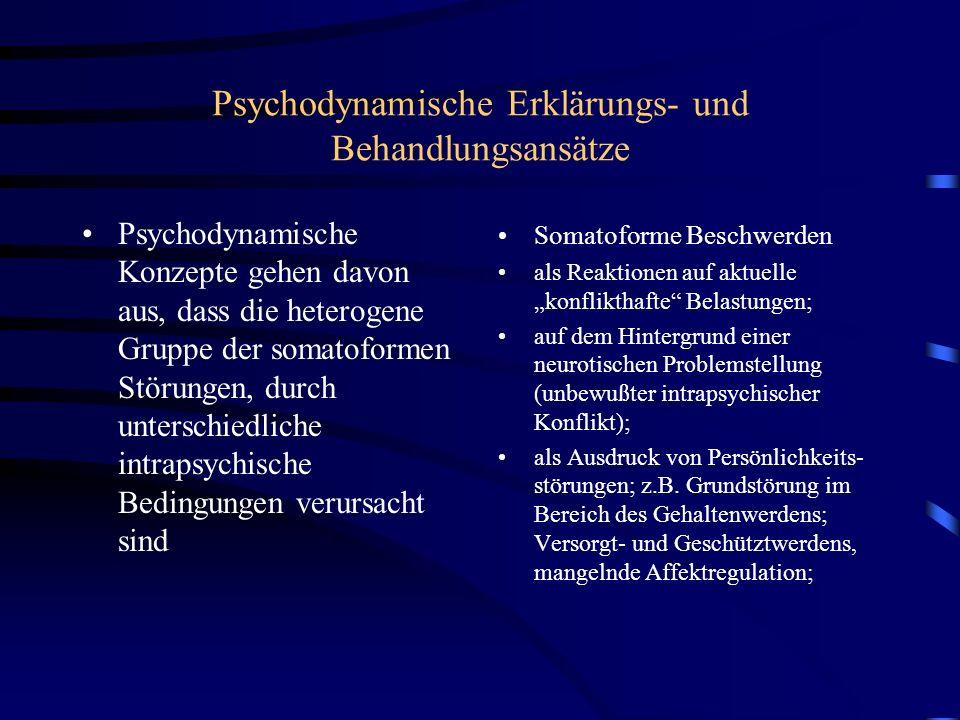Psychodynamische Erklärungs- und Behandlungsansätze