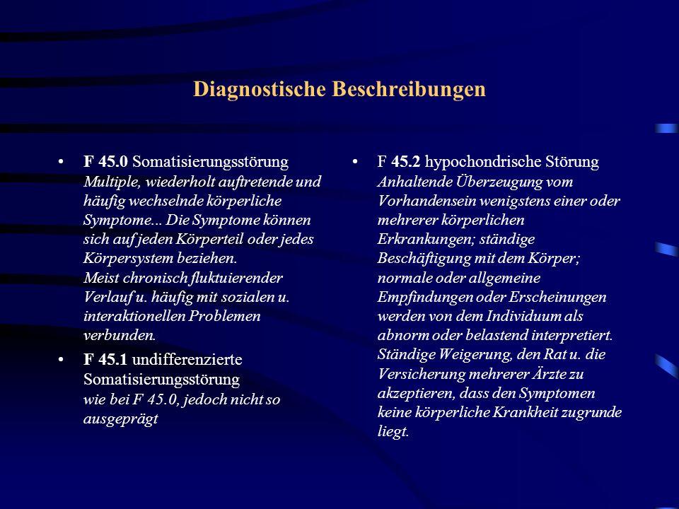 Diagnostische Beschreibungen