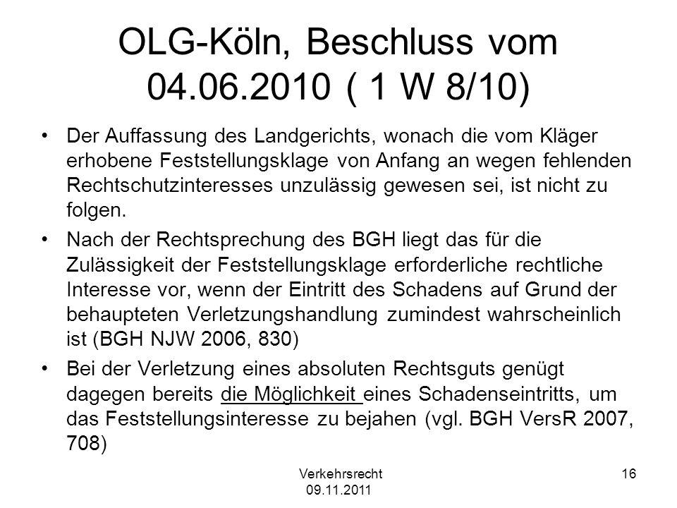 OLG-Köln, Beschluss vom 04.06.2010 ( 1 W 8/10)